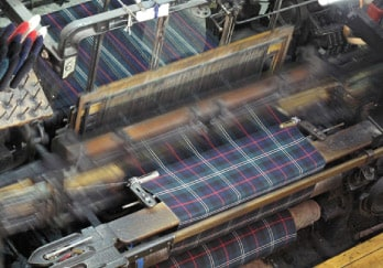 Loom weaving fabric