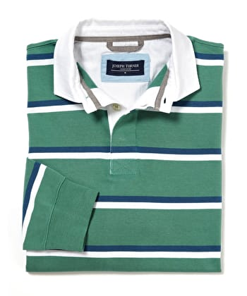 Rugby Shirt - Green/Blue/White