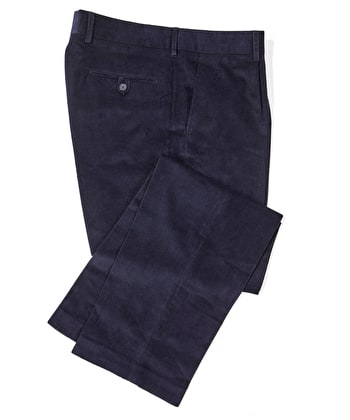 Needlecord Trousers - Navy