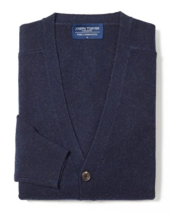 Lambswool - Cardigan - Navy