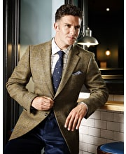 Dales Tweed Jacket - Blue Windowpane Check