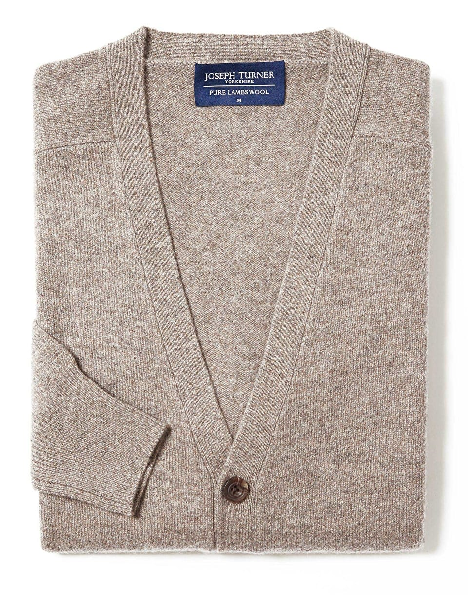 Men's Knitwear | Lambswool Cardigan by Joseph Turner