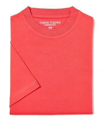 Cotton T-Shirt - Coral