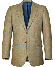 Lightweight Tweed Jacket - Green/Pink Check