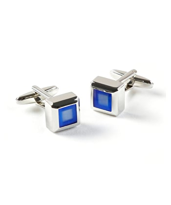 Blue Square Cufflinks