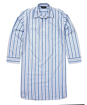 Nightshirt - Red/Blue - Brushed Cotton