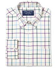Button-Down Tattersall Check