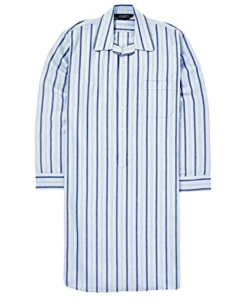 Nightshirt - Blue/Navy Brushed