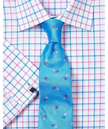 Blue/Pink Oxford Check Shirt