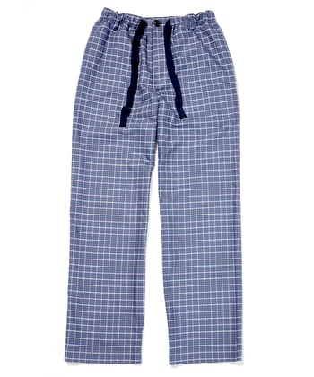 Pull-on Bottoms - Navy/Pink Check (Brushed)