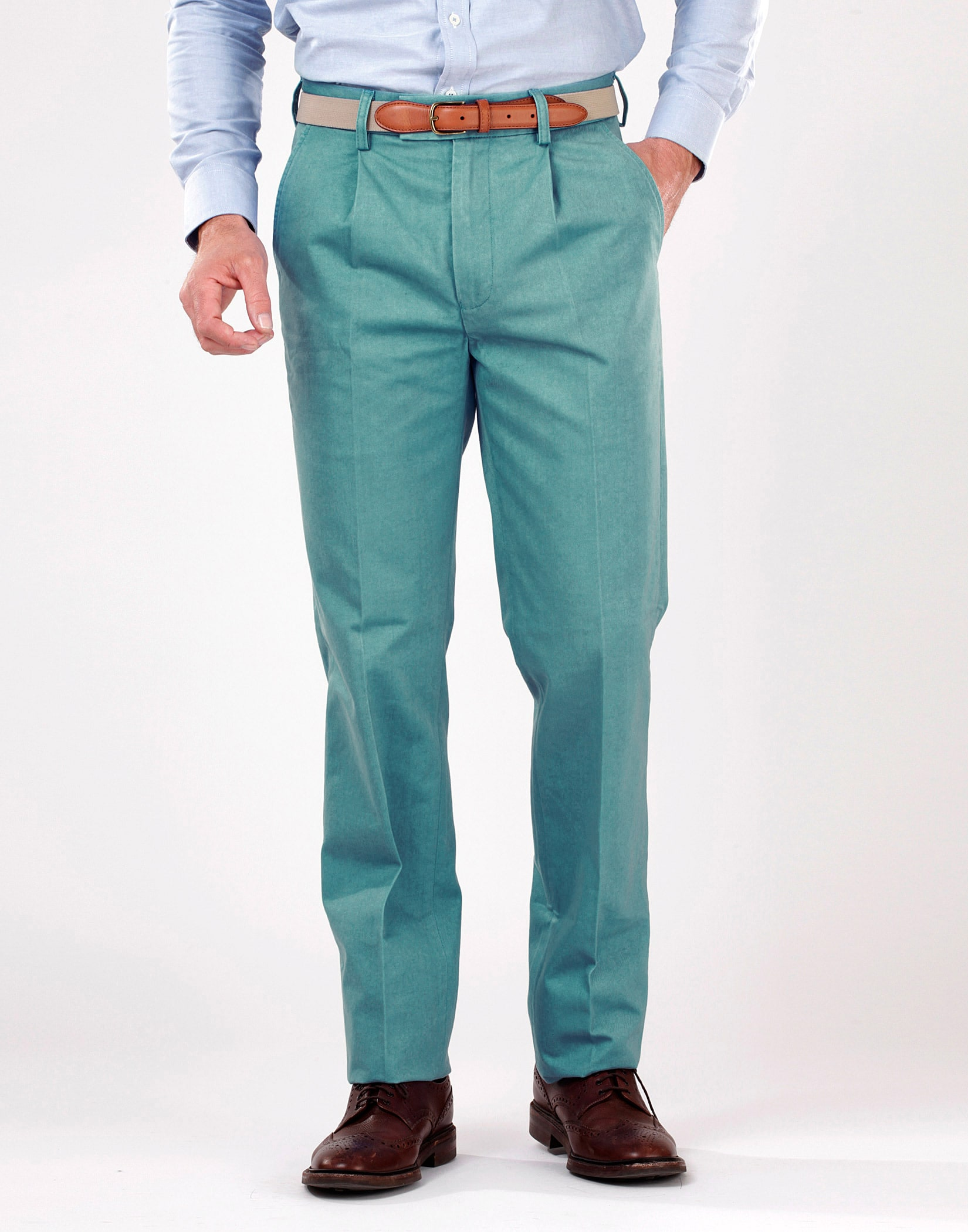 Men's Pleated Front Chinos