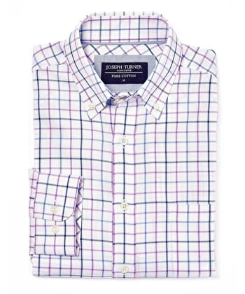 Button-Down Oxford Shirt - Navy/Blue/Purple