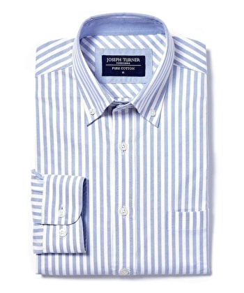 Button-Down Oxford Shirt - Blue Stripe