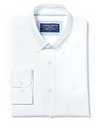 Button-Down Oxford Shirt - White