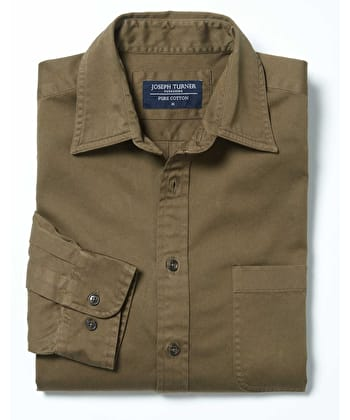 Cotton Twill Shirt - Olive