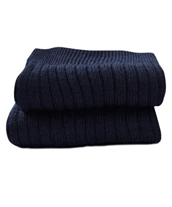 Classic Wool Socks - Half Hose - Navy