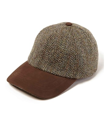 Peaked Cap - Light Green Tweed