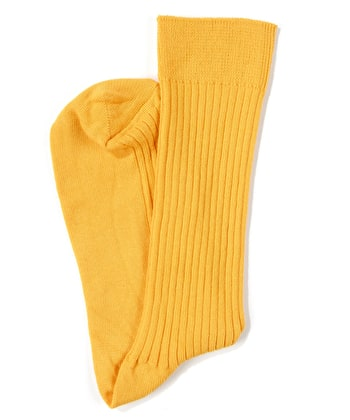 Combed Cotton Socks - Yellow