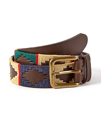 Polo Belt - Gold/Blue/Green