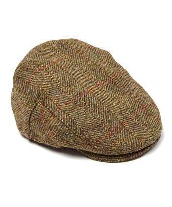 Flat Cap - Olive Harris Tweed
