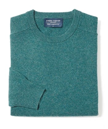 Lambswool Jumper - Crew Neck - Spruce