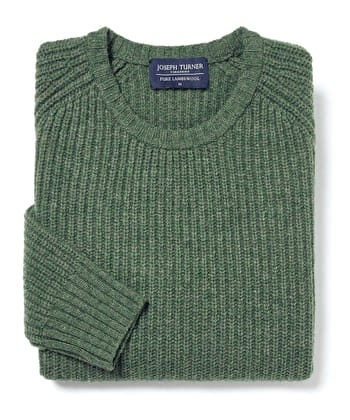 Lambswool Whitby Rib - Green