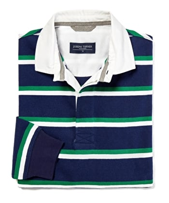 Rugby Shirt - Navy/Green/White