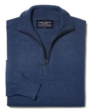 Cotton/Cashmere - Half Zip