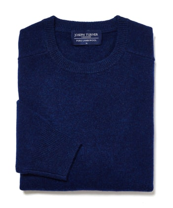 Lambswool Jumper - Crew Neck - Indigo