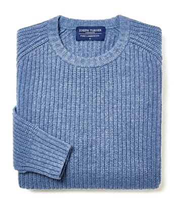 Lambswool Whitby Rib - Blue