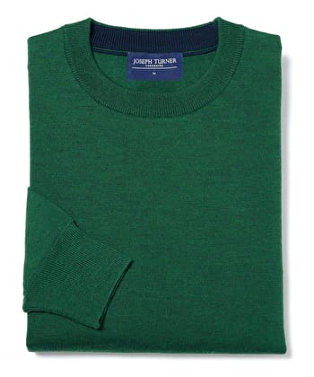Merino Jumper - Crew Neck - Holly