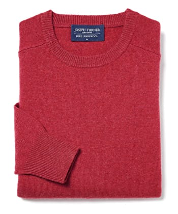 Lambswool Jumper - Crew Neck - Poppy
