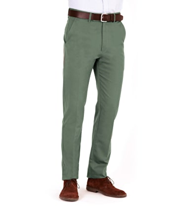 Flat Front Chinos - Forest