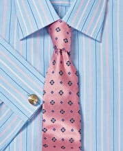 Blue/Pink End-on-End Stripe