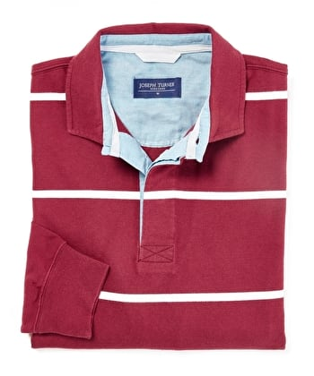 Rugby Shirt - Burgundy/White