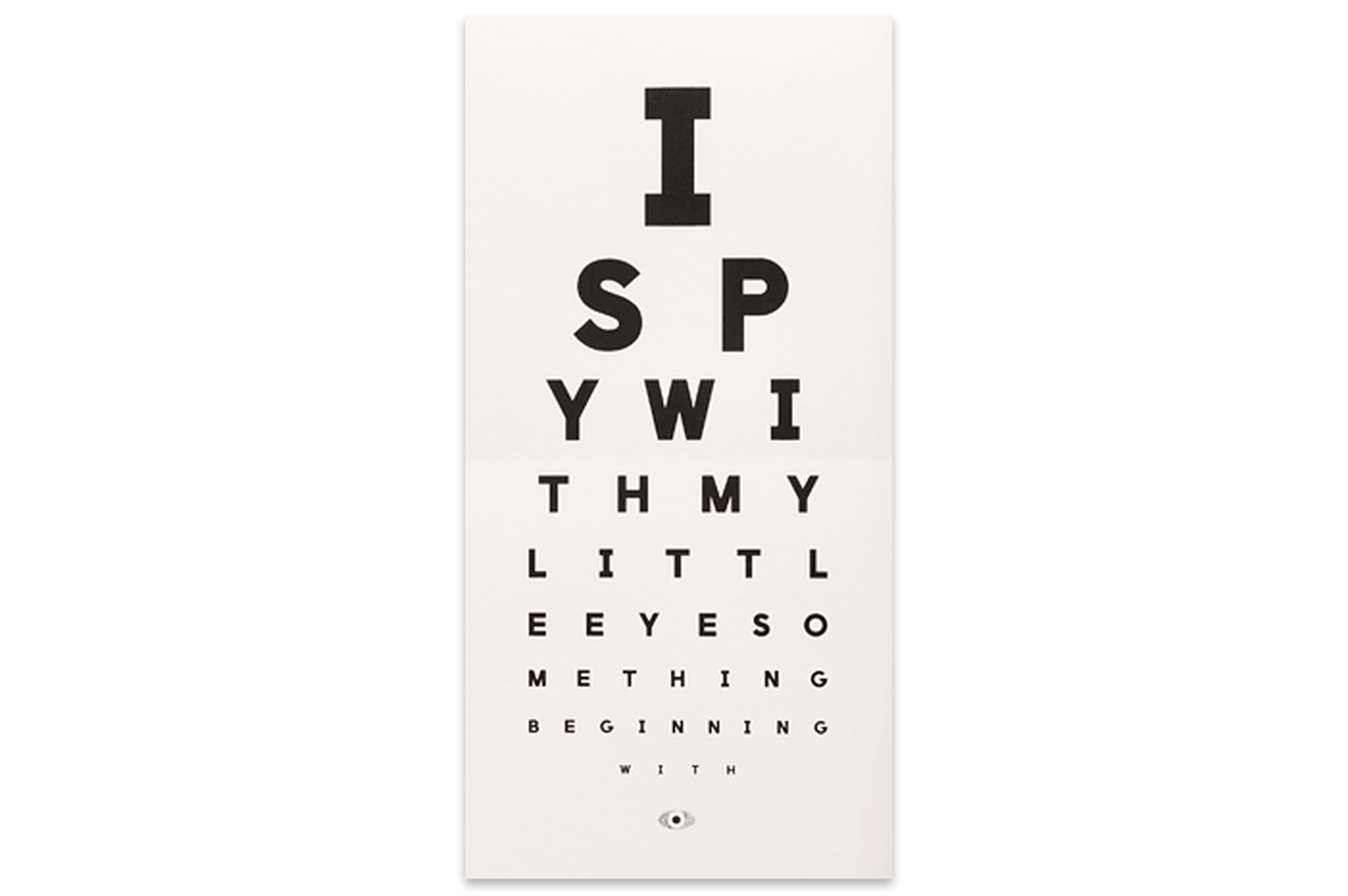 I Spy Eye Chart Shop All Shop The Calm Gallery