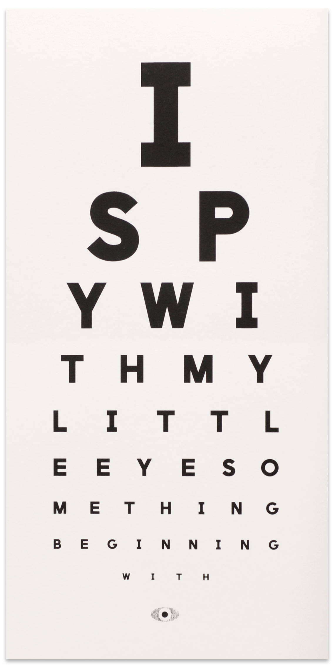 Shop all shop the calm gallery new i spy eye chart geenschuldenfo Gallery