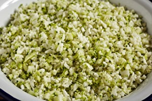 Cauliflower and Broccoli Rice