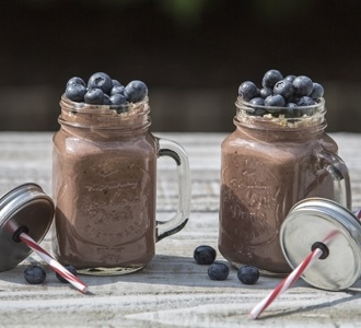 Chocolate and Blueberry Smoothie