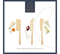 Artesà 3-Piece Set of Brass Coloured Cheese Knives