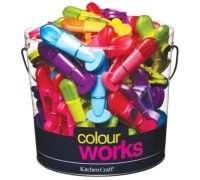 Colourworks Display of 60 Magnetic Bag Clips