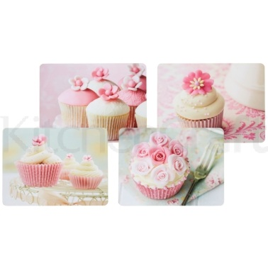 Kitchen Craft Cupcake Cork Back Laminated Set of 4 Placemats