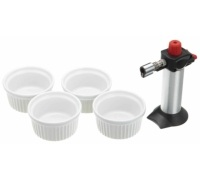 KitchenCraft Deluxe Cooks Blowtorch and Ramekin Gift Set