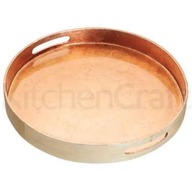 Artesà Bamboo 38cm Serving Tray with Copper Finish