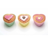 Sweetly Does It Pack of 12 Silicone Heart Shaped Cake Cases