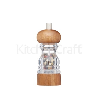 Master Class 14cm Filled Acrylic and Acacia Wood Pepper Mill