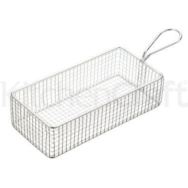 MasterClass Mini Deluxe Stainless Steel Rectangular Fry Basket