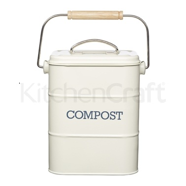 Living Nostalgia Antique Cream Compost Bin