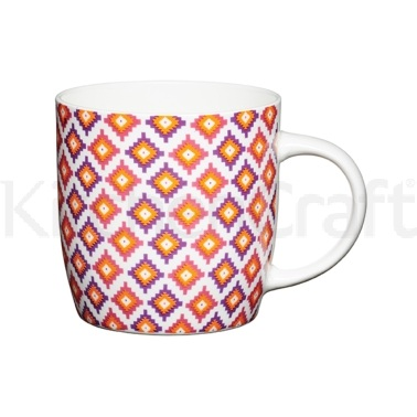 Kitchen Craft Fine Bone China Moroccan Diamonds Barrel Mug