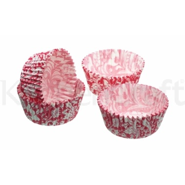 Sweetly Does It Pack of 80 Pink Floral Mini Cake Cases